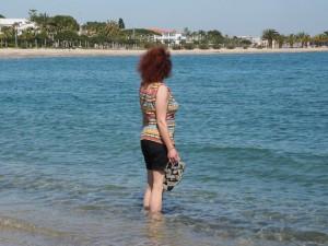 Fußbad im Mittelmeer
