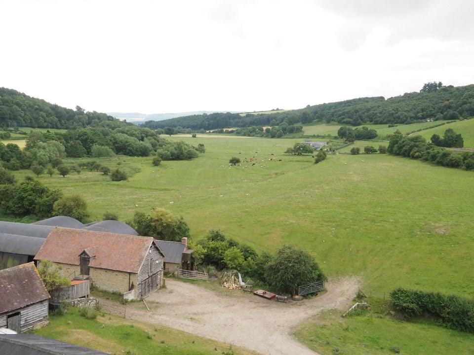 Blick ins Hinterland von Stokesay Castle