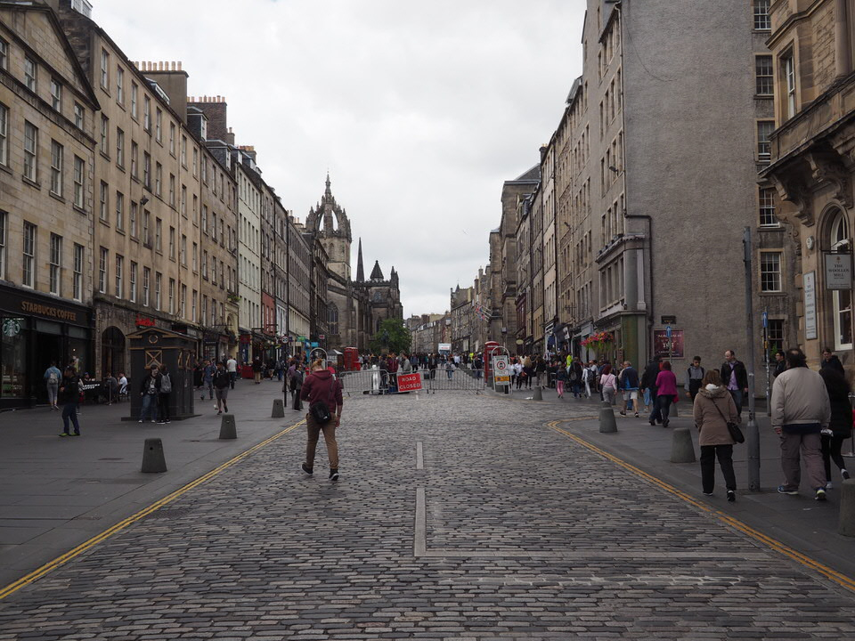 High Street in Edinburgh, auch Royal Mile genannt