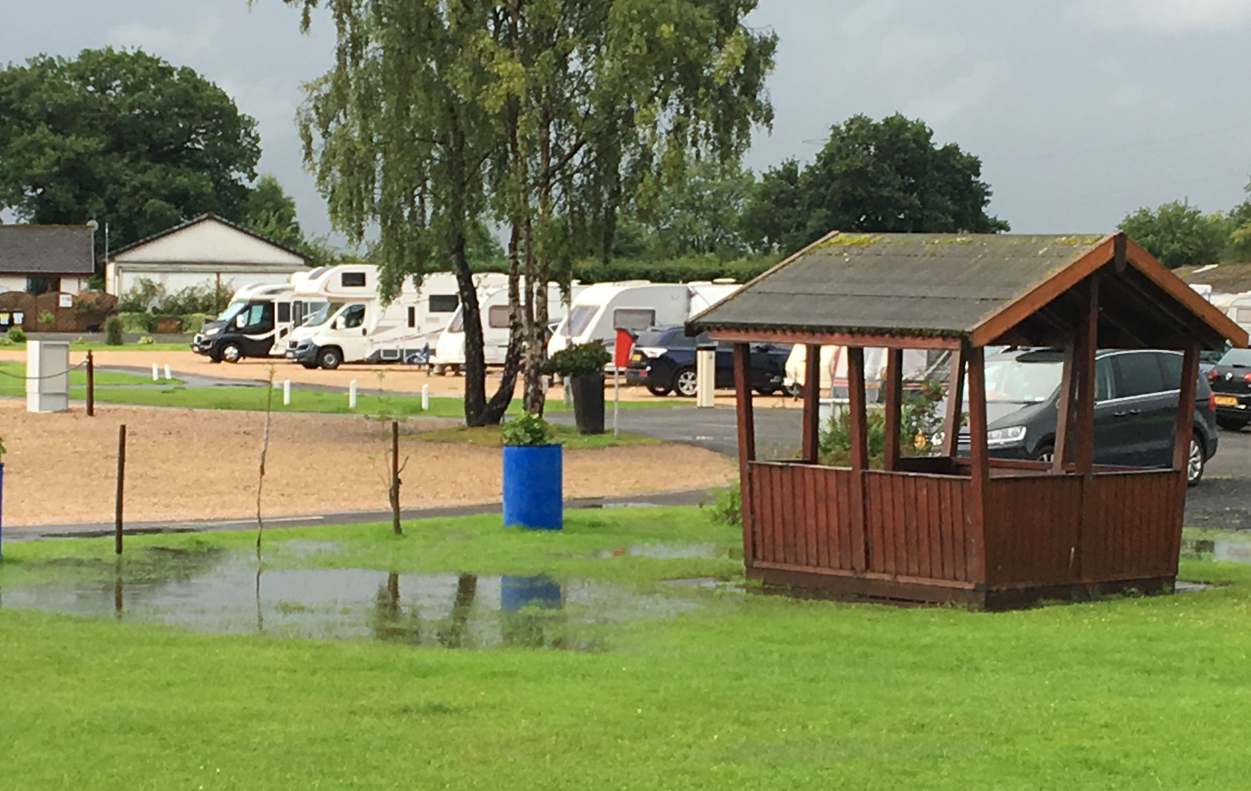 Campingwiese am Morgen in Stirling