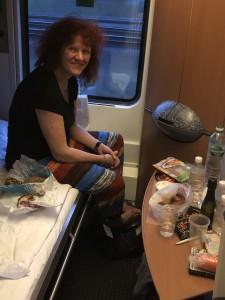 Unser Schlafwagenabteil im ÖBB-Nachtzug