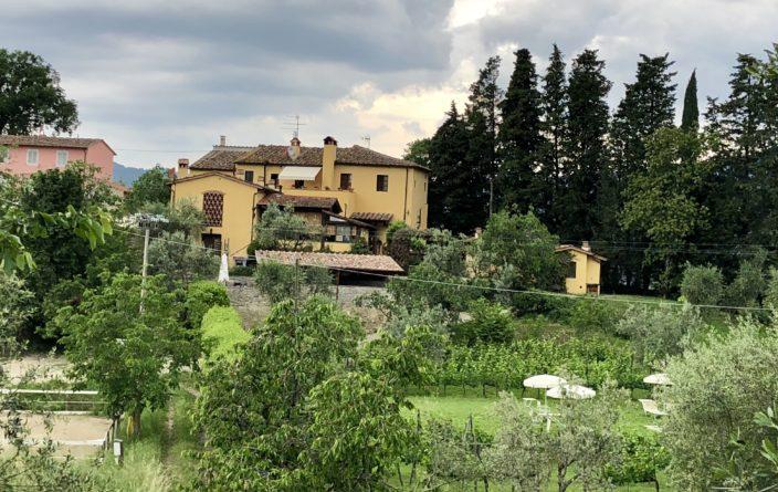 """Blick auf unsere Unterkunft """"Podere il Poggiolo"""""""