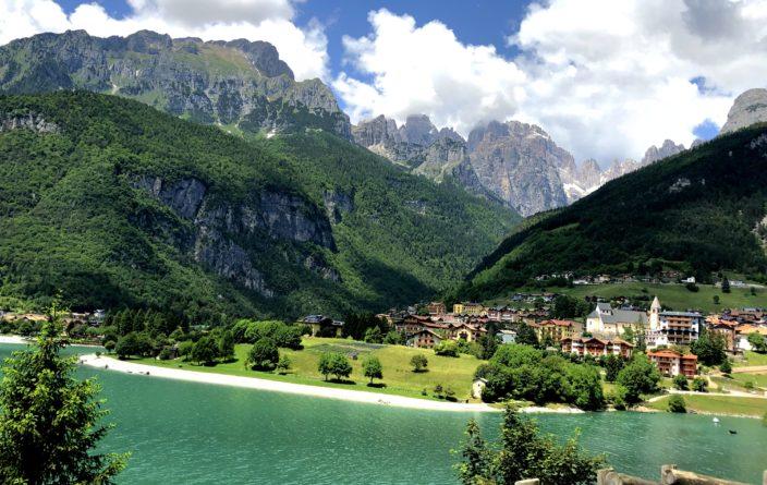 Unser Weg vorbei am Lago di Molveno