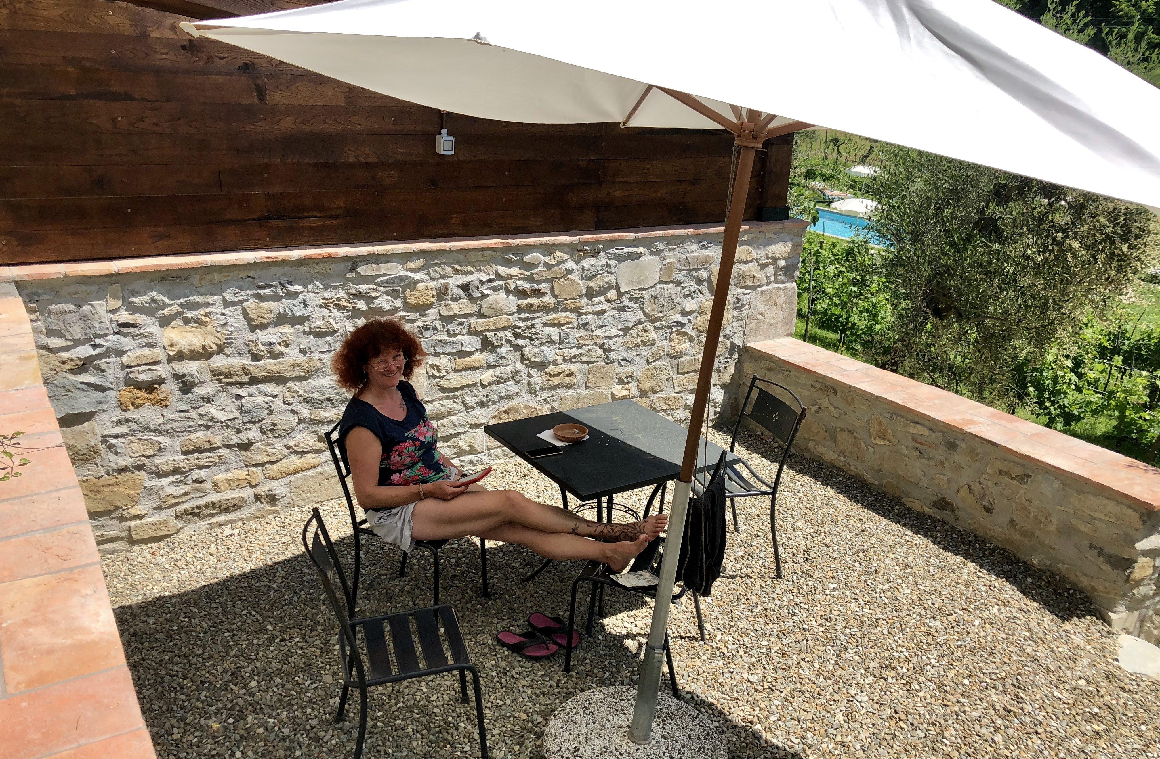 Entspannung auf unserer kleinen Terrasse
