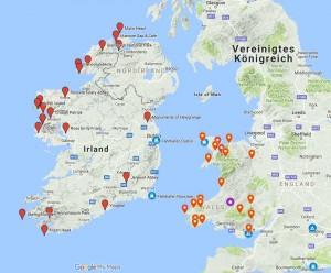 Liste von Sehenswürdigkeiten in Wales und Irland