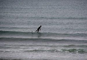 Surfer bei Strandhill