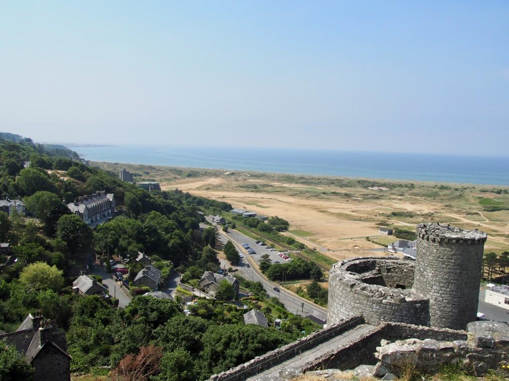Harlech Castle mit Meeresblick