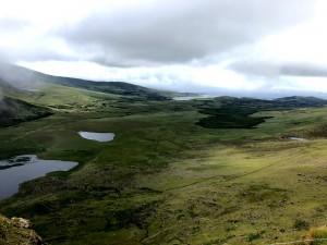Aussicht am Connor-Pass auf der Dingle Halbinsel