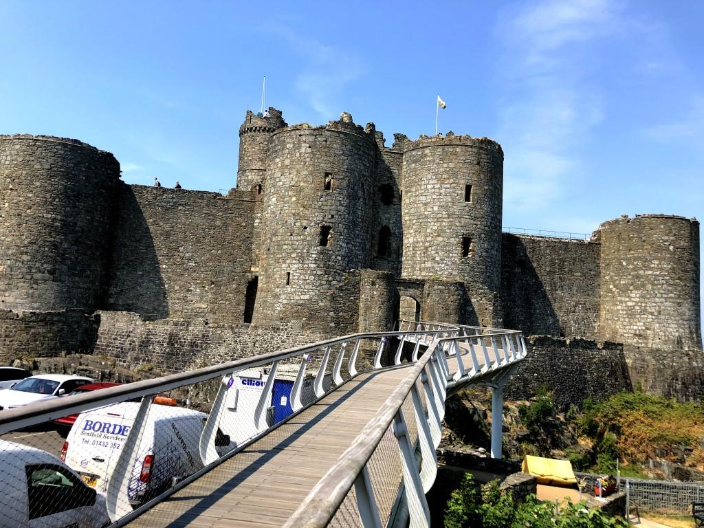 Zugang zum Harlech Castle
