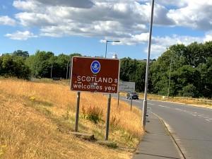Grenze Schottland - England bei Gretna Green