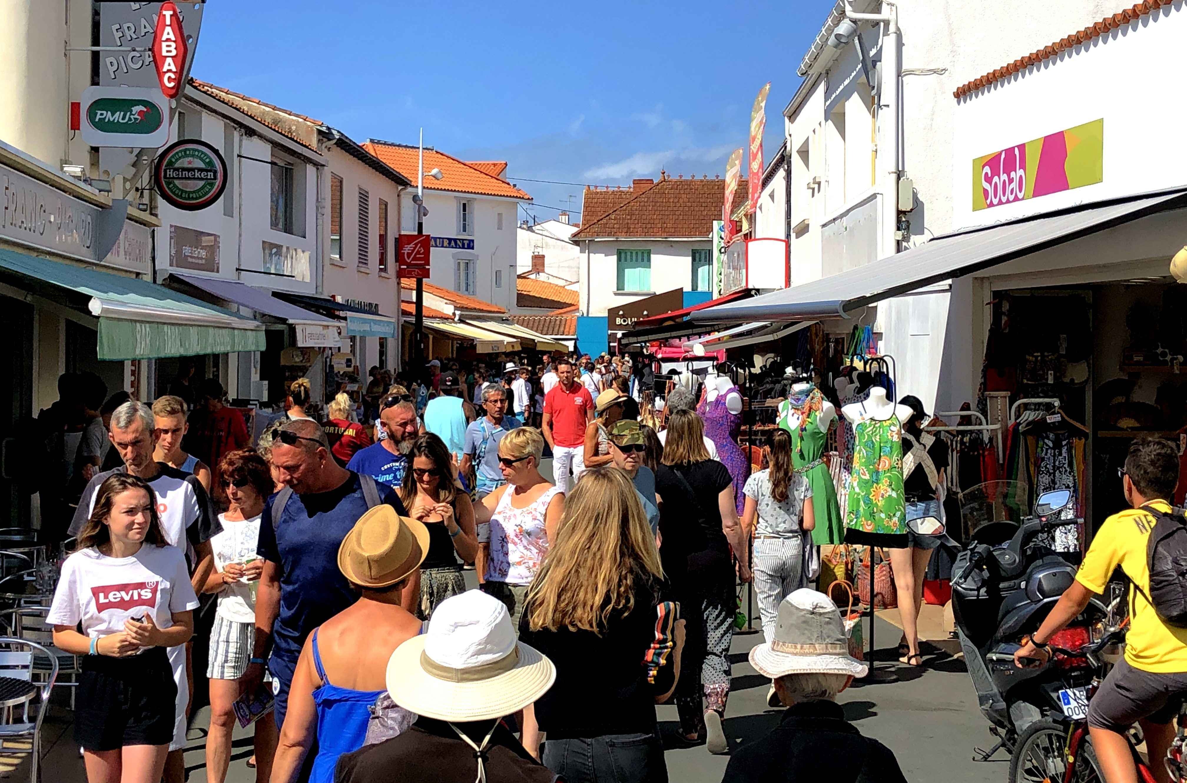 Shoppingmeile in La Tranche-sur-Mer