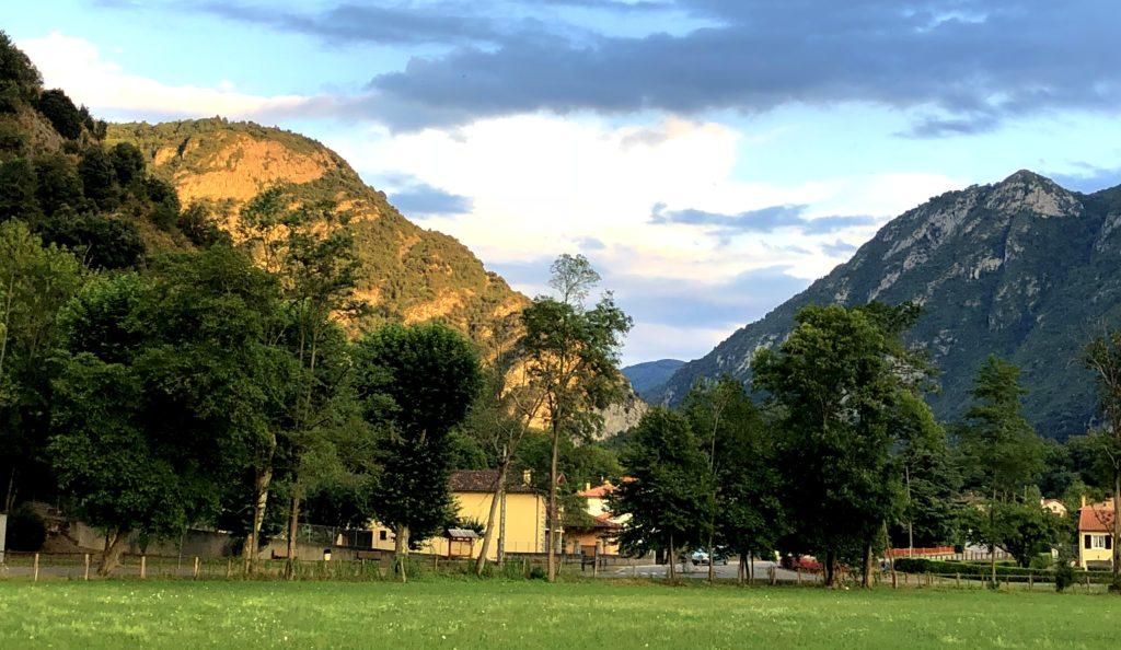 Blick vom CP auf die Ausläufer der Pyrenäen