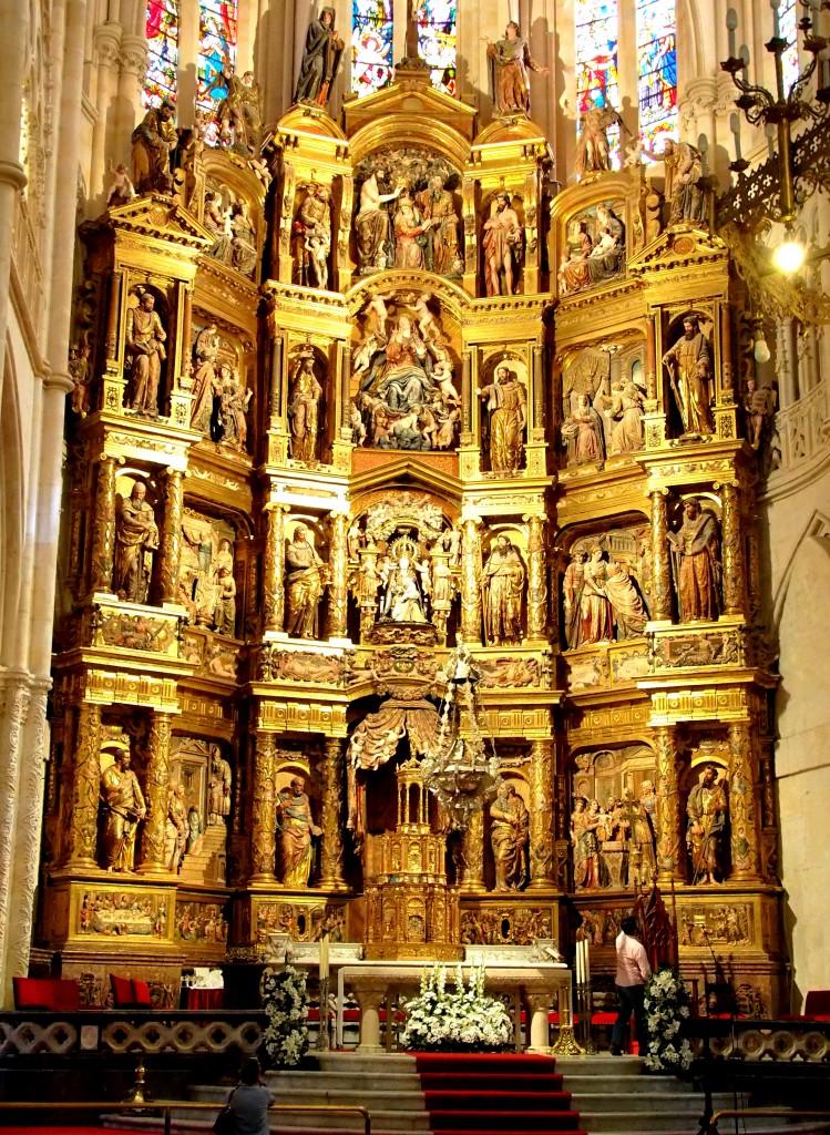 Hauptaltar in der Kathedrale von Burgos