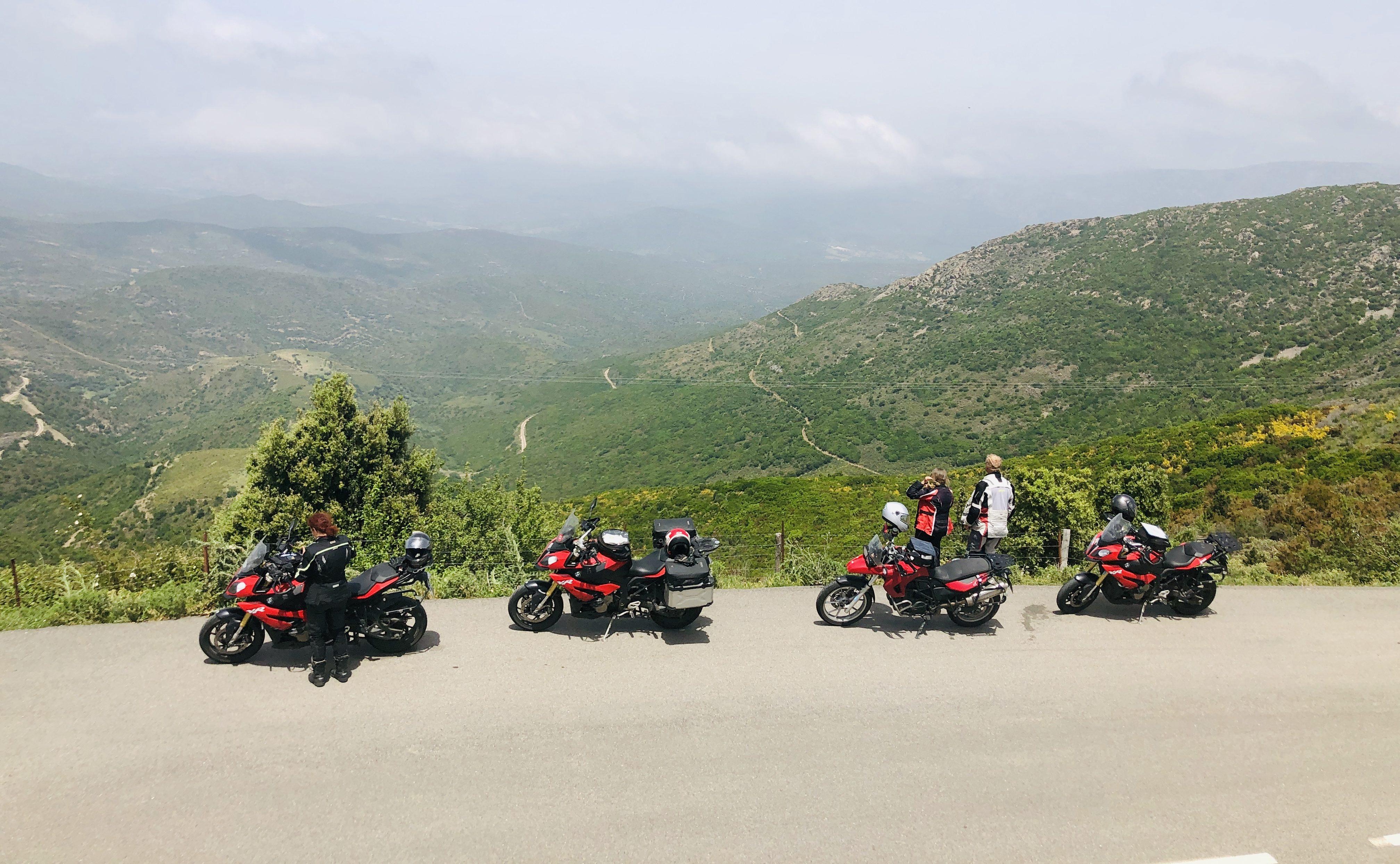 Blick auf die Hügellandschaft der Balagne