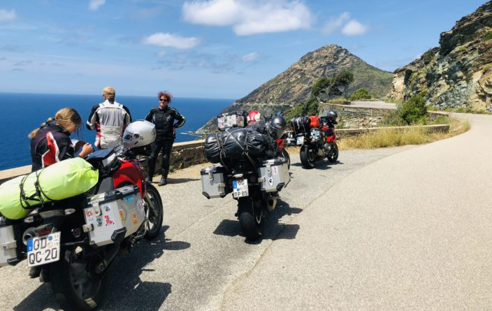 Westliche Küstenstraße auf Cap Corse