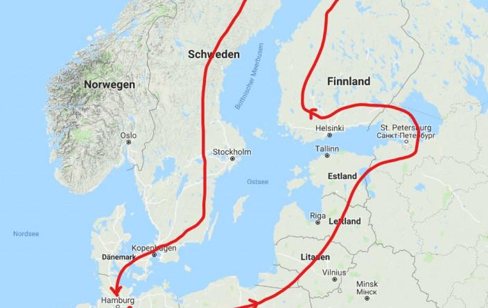 Grobe Planung der Ostsee-Tour