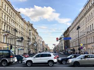 Nevsky Prospekt, nahe der Anitschkow-Brücke