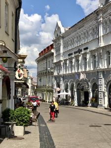 Fußgängerpassage in der Altstadt von Vilnius