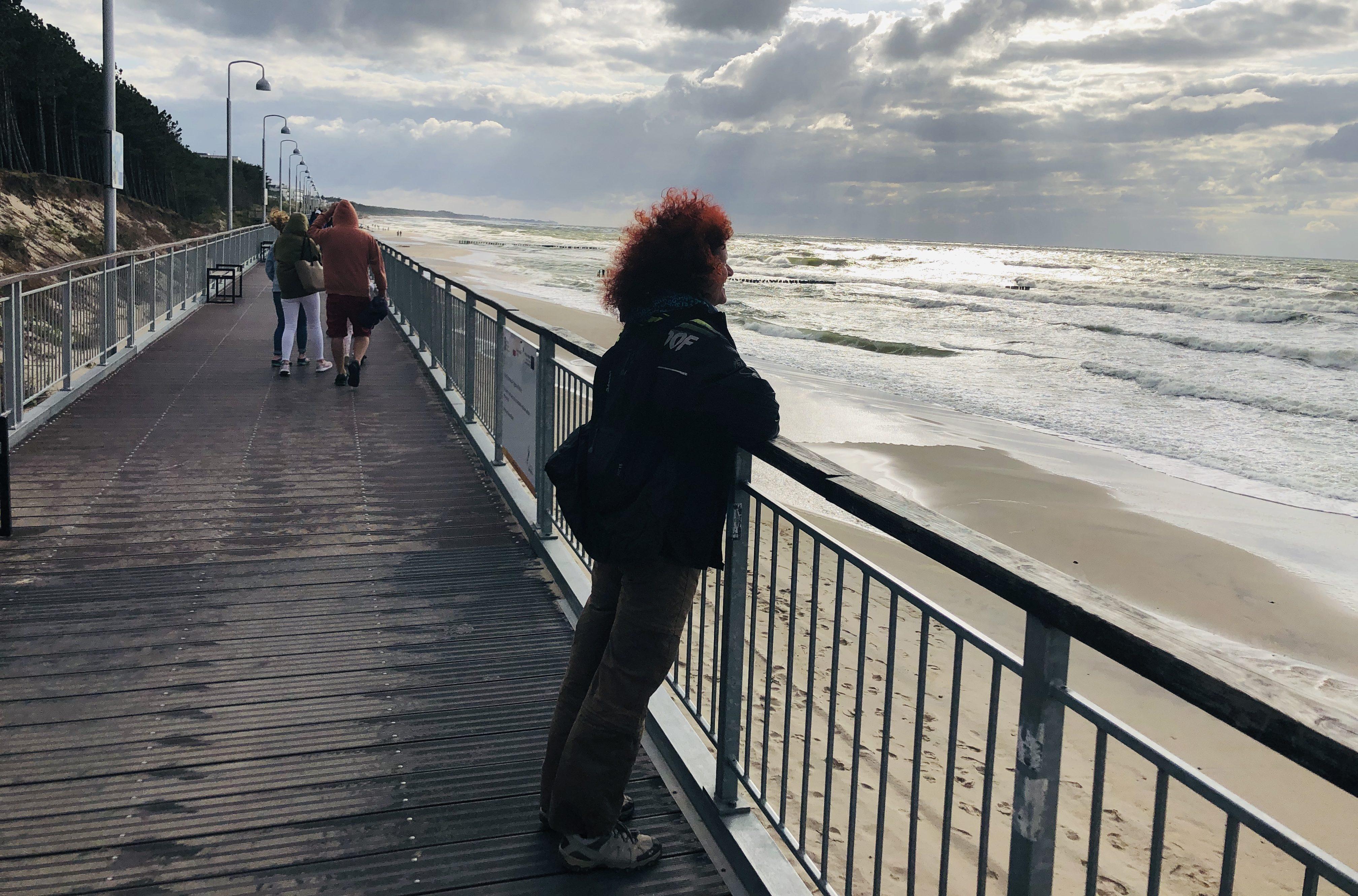 Promenade in Mielno an der polnischen Ostseeküste