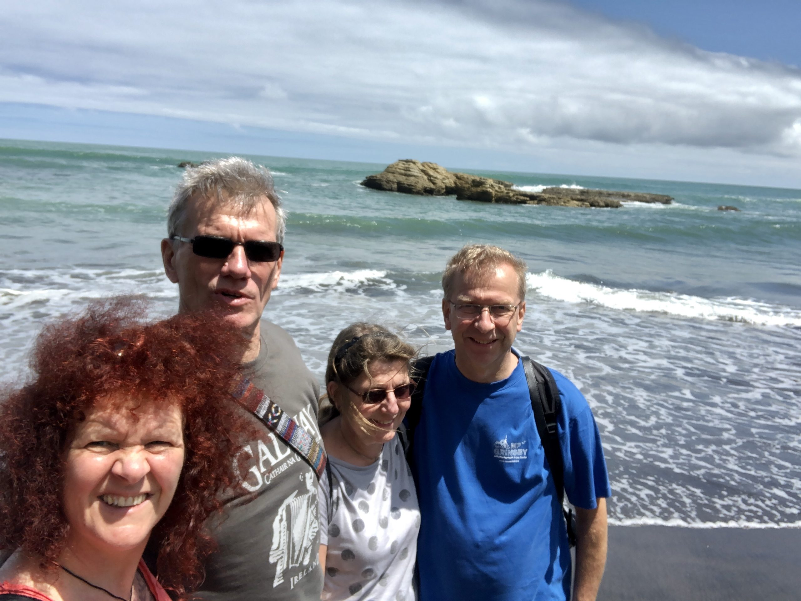 Wir an der Tasmanischen See