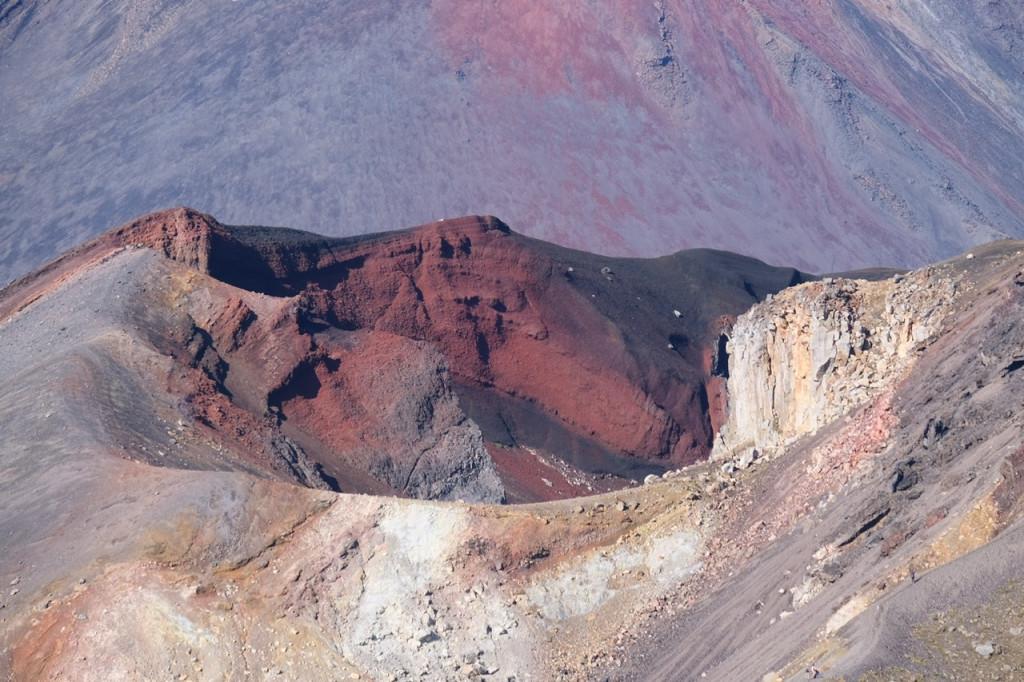 Blick in einen Vulkankrater