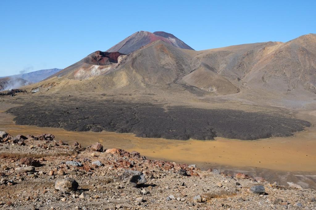 Lavafeld am Tongariro Alpine Crossing
