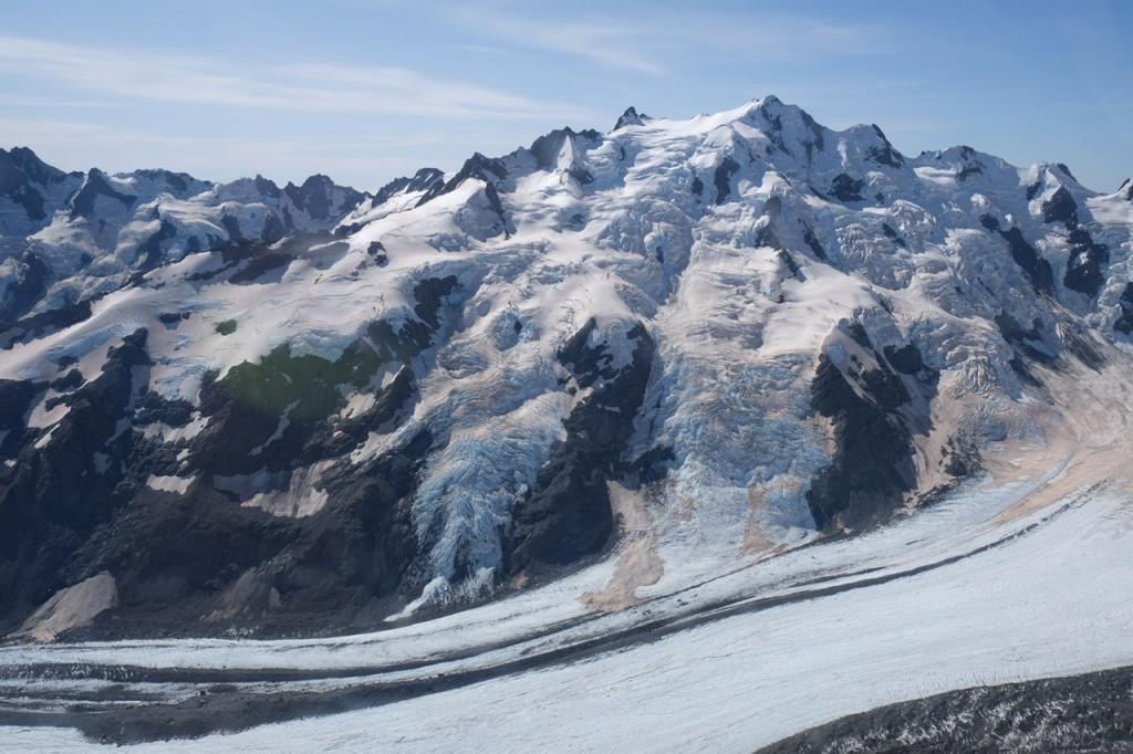 Gletscher vom Heli aus gesehen