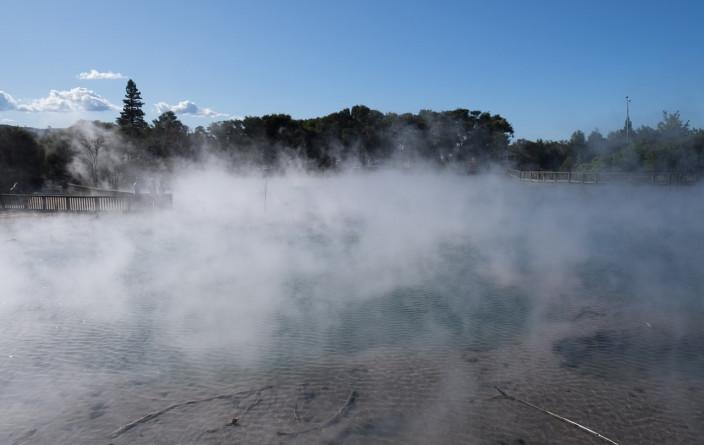 Dampfender See