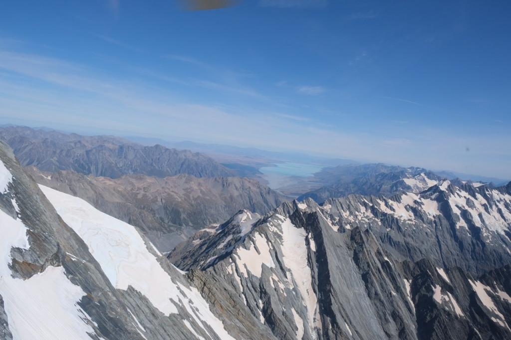Berggipfel mit Lake Pukaki