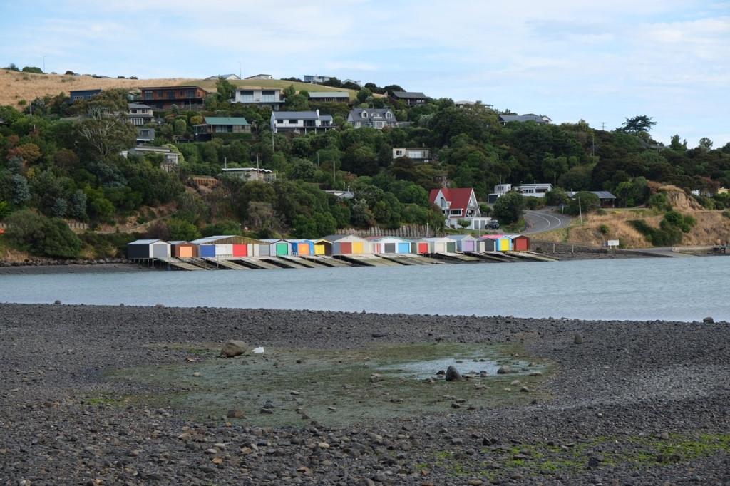 Blick vom CP Duvauchette Fischerhütten
