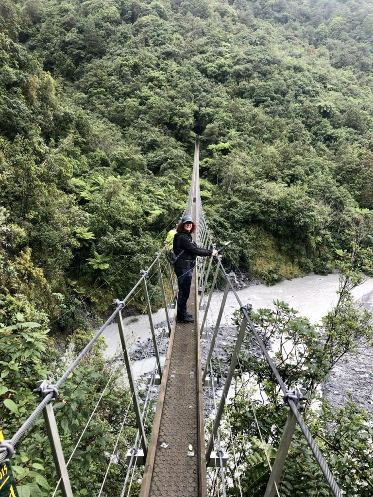 Swing Bridge auf unserer Wanderung