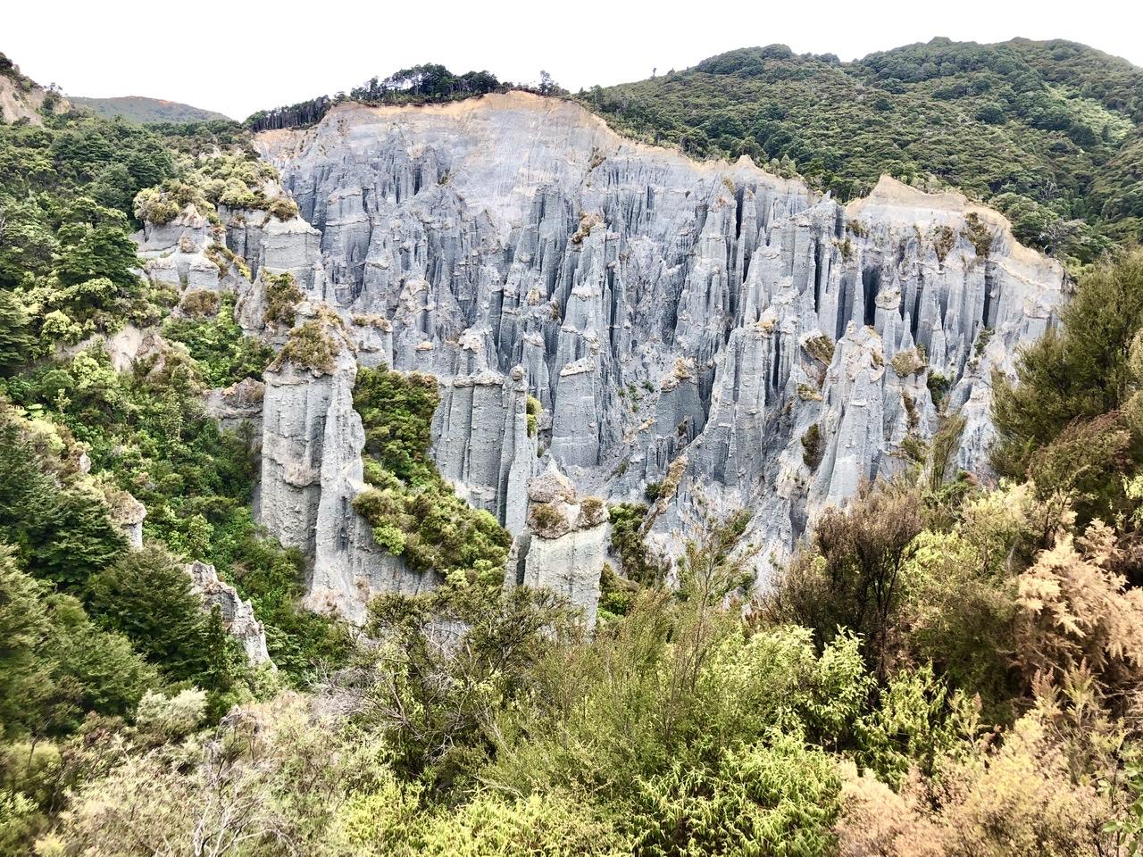 Steinsäulen von oben