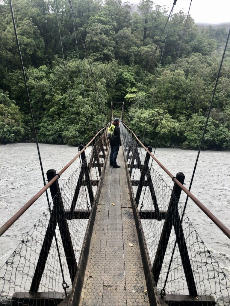 Brücke über den Waiho River