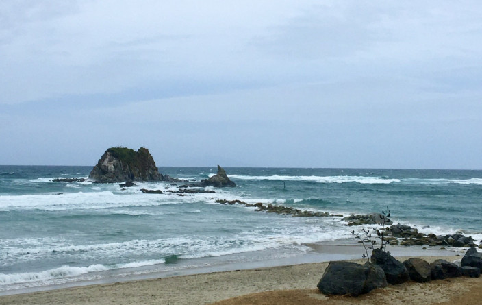 Am Strand von Mangawhai Heads