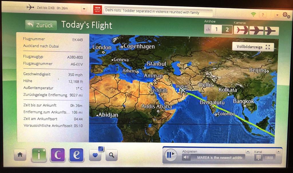Flug Auckland - Dubai