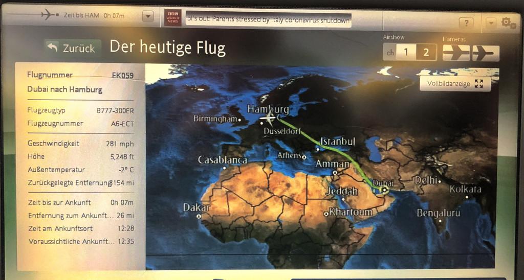 Flug Dubai - Hamburg