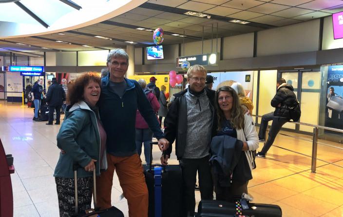 Glückliche Ankunft in Hamburg