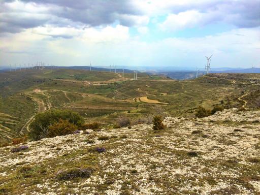 Landschaft nahe Morella in der Region Valencia