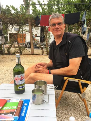 Abendtrunk auf dem Camping La Marina