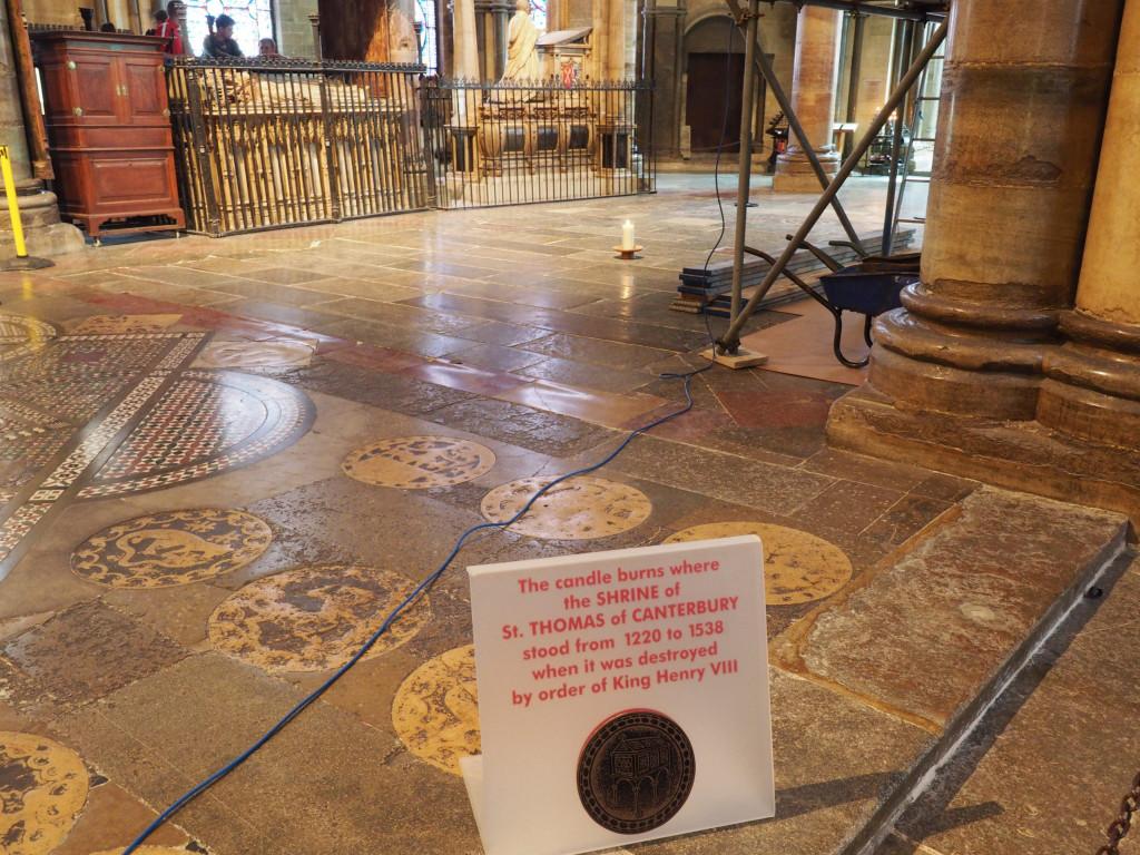 Schrein von Thomas Beckett in der Kathedrale