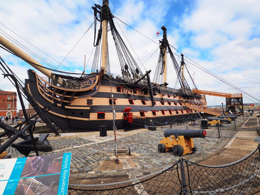 Die HMS Victory, Englands Stolz in der Schlacht von Trafalgar