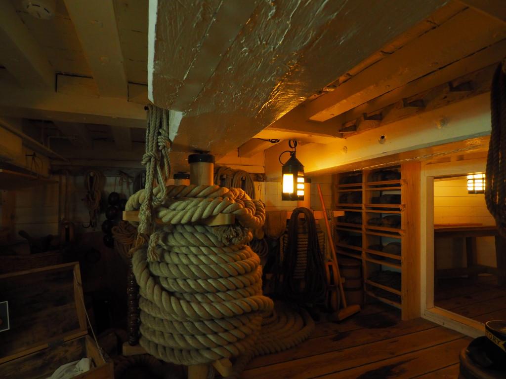 Lager für Seile und Taue