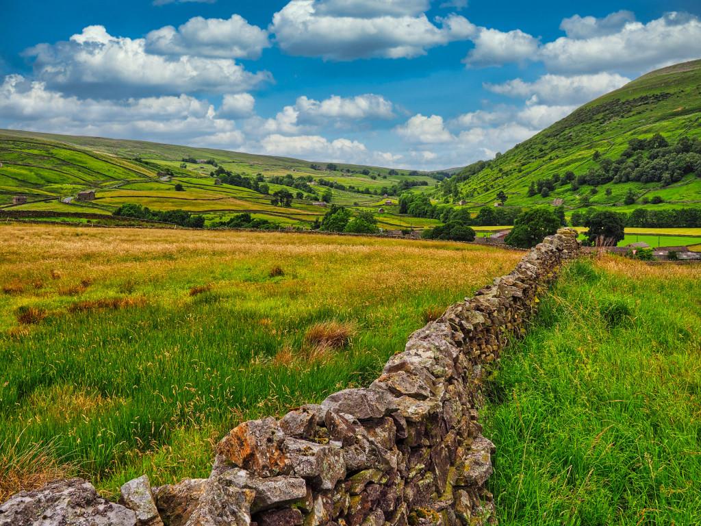 (Aufgepimpte) Landschaft in Nord-Yorkshire