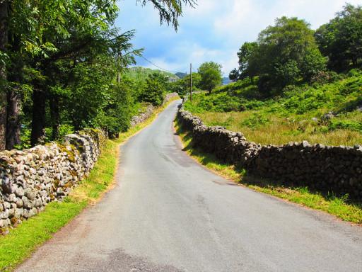 Straßenbild im Lake District