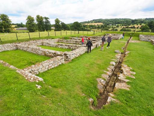 Ruinen des Chesters Roman Fort am Hadrianswall