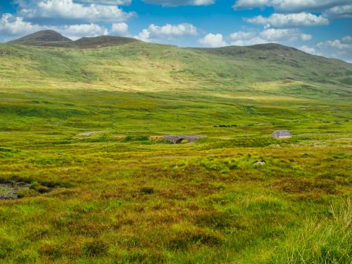 Auf der A836 in den Sutherlands der Highlands