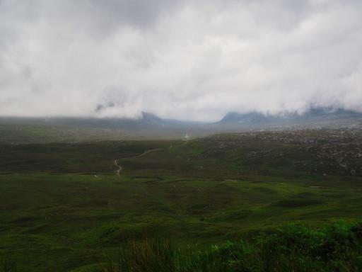 Mystisches Highland auf der A838 an der Westküste