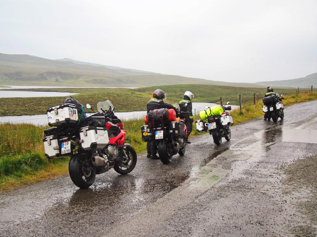 Auf der A855 auf der Isle of Skye