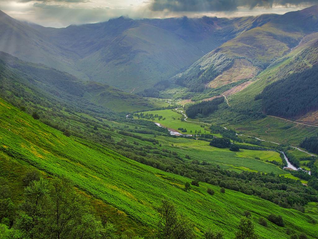 Blick ins Tal am Ben Nevis