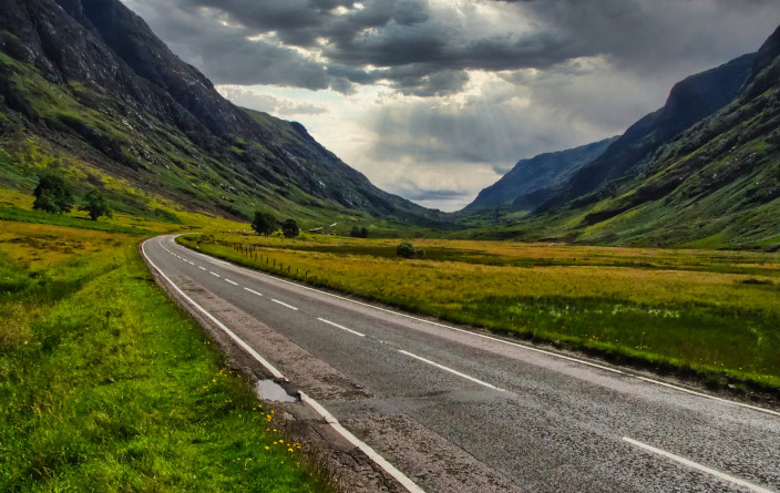 Durch das Tal Glen Coe